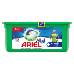 ARIEL kapsle Allin1 Pods + Active Odor Defense 24 PD