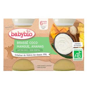 BABYBIO Brassé z kokosového mléka mango ananas 2x130 g