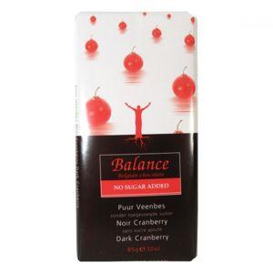 BALANCE Hořká čokoláda s brusinkami bez přidaného cukru 85 g