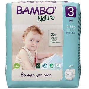 BAMBO Nature 3 Dětské plenkové kalhotky 4-8 kg 28 ks