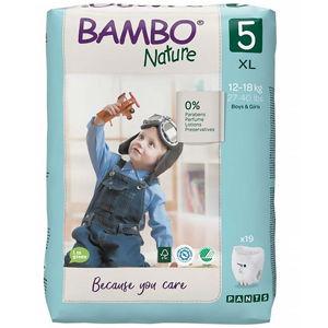 BAMBO Nature Pants 5 Navlékací treninkové plenkové kalhotky 12-18 kg 19 ks