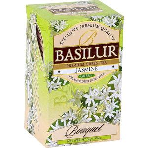 BASILUR Bouquet Jasmine zelený čaj 25 sáčků