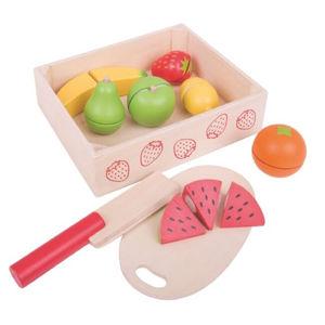 BIGJIGS Toys Krájecí ovoce v krabičce