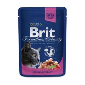 BRIT Premium Cat kapsa with Salmon & Trout 100 g