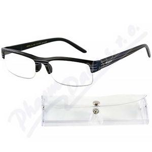AMERICAN WAY brýle čtecí +1.00 černé s pruhy a pouzdrem