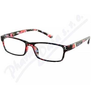 AMERICAN WAY brýle čtecí +1.00 černo-květinové