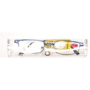 AMERICAN WAY Čtecí brýle modré v etui + 2.00