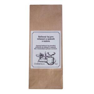 Bylinný čaj pro relaxaci a spánek s mátou od LÉKÁRNA.CZ 50 g