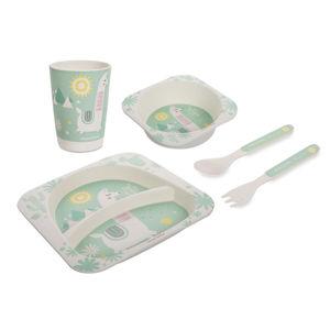 CANPOL BABIES Bambusový set nádobí LAMA 5 ks