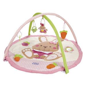 CANPOL BABIES Hrací koberec hrající s hrazdičkou KRÁLÍČEK