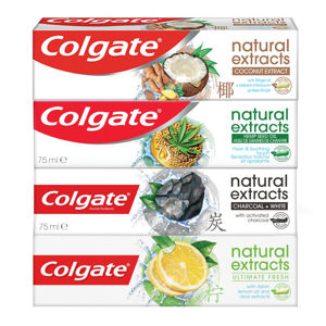 COLGATE Natural Extracts Zubní pasta Mix 4x 75ml