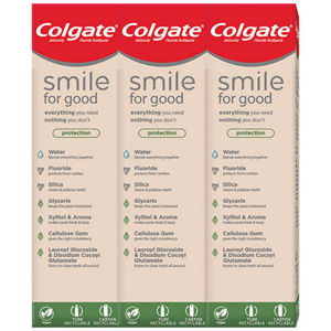 COLGATE Zubní pasta Smile for Good Protection 3x 75 ml