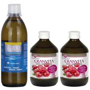 PHARMA ACTIV Cranvita 1+1 500 ml + Ag100 10ppm 500 ml