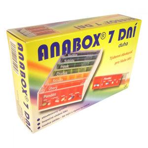 ANABOX Dávkovač na léky 7 dní duha