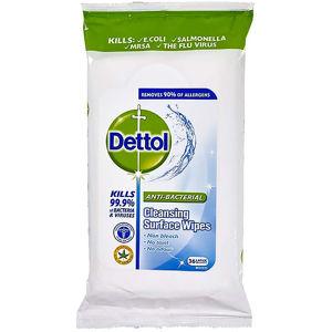 DETTOL Antibakteriální ubrousky na povrchy Limetka a máta 36 ks
