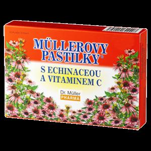 DR. MÜLLER Müllerovy pastilky s echinaceou a vitaminem C 12 pastilek