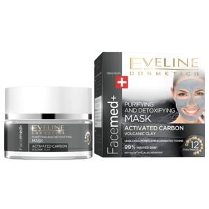 EVELIN Facemed+ Čistící maska s aktivním uhlím 50 ml