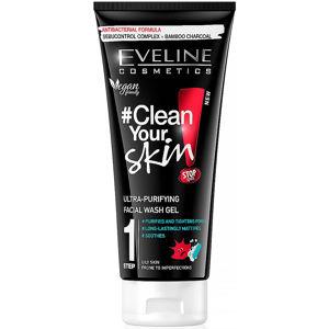 EVELINE Pure Control - Mycí gel pro hloubkové čištění pleti 200 ml