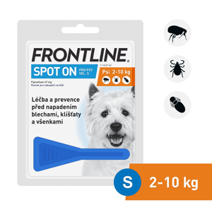 FRONTLINE spot-on dog S a.u.v. roztok 1x0,67 ml