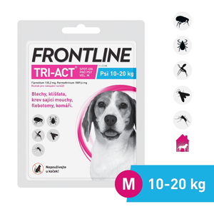 FRONTLINE Tri-Act Spot-on pro psy M (10-20 kg) 1x2 ml