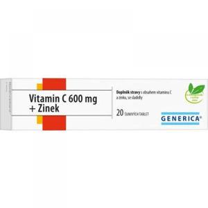 GENERICA Vitamin C 600 mg + Zinek 20 šumivých tablet