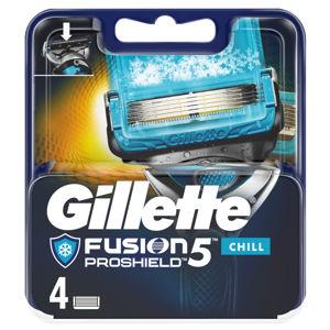 GILLETTE Fusion5 ProShield Chill Náhradní hlavice pro muže 4 ks