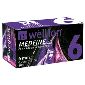Jehly WELLION MEDFINE PLUS 31Gx6mm 100ks inzulinová pera