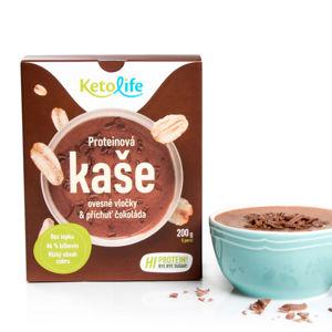 KETOLIFE Proteinová kaše oesné vločky a příchuť čokoláda 200 g