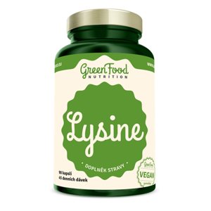 GREENFOOD NUTRITION Lysin 90 kapslí