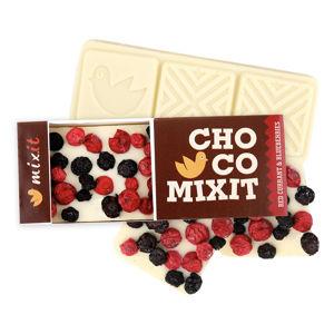 MIXIT Mini čokoláda bílá s červeným rybízem a borůvkami 50 g