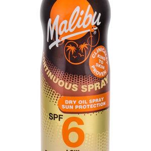 MALIBU Continuous Spray SPF6 Opalovací přípravek na tělo Dry Oil 175 ml