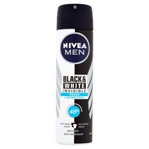 NIVEA Men Black & White Invisible Fresh Sprej antiperspirant 150 ml