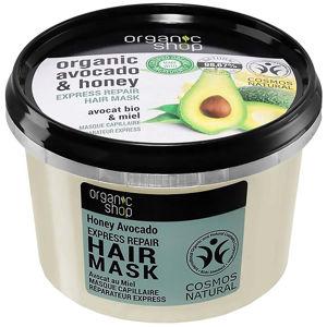 ORGANIC SHOP Maska na vlasy Expresní regenerace Medové Avokádo 250 ml