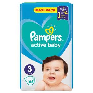PAMPERS Active Baby Vel.3 Dětské pleny 6-10kg  66 ks