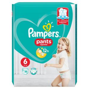 PAMPERS Pants vel.6 ExtraLarge 16+ Kalhotkové plenky 19 ks