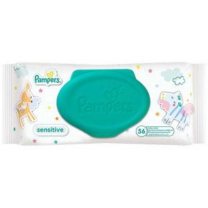 PAMPERS Sensitive dětské čisticí ubrousky 56 kusů
