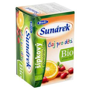 SUNÁREK Čaj dětský Šípkový s pomerančem 20 x 1,5 g